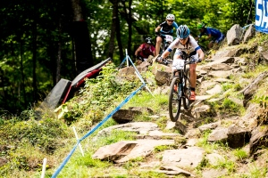 , during the 25th UCI MTB World Cup at Mt Sainte-Anne, Quebec, Canada.