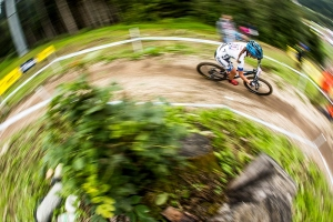 During the Val Di Sole UCI MTB World Cup